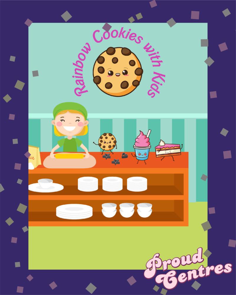 Rainbow Cookies with kids