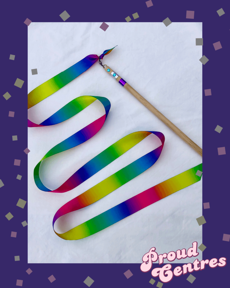 Rainbow Ribbon Wands with TAPLab